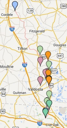 235x450 Alapaha River, in Wwals art map, by John S. Quarterman, for WWALS.net, 11 October 2014