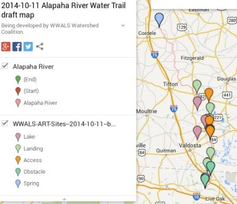 553x477 Legend Alapaha River, in Wwals art map, by John S. Quarterman, for WWALS.net, 11 October 2014