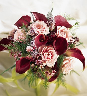 burgundy green pink purple bouquet wedding flowers photos pictures weddingwire