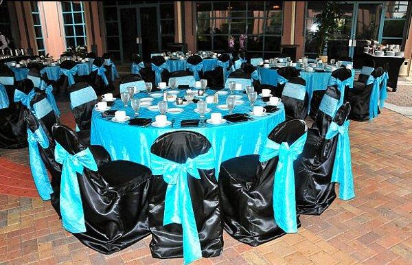 Black Blue Silver Centerpiece Centerpieces Chairs Outdoor
