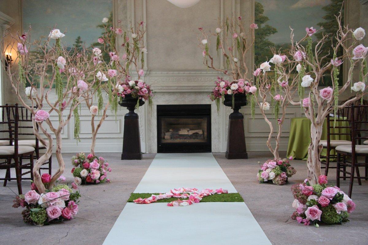 Indoor Ceremony Decor, Wedding Ceremony Photos By Rachel A
