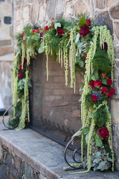 Fireplace Mantel Decor Wedding Reception Photos By Dianne