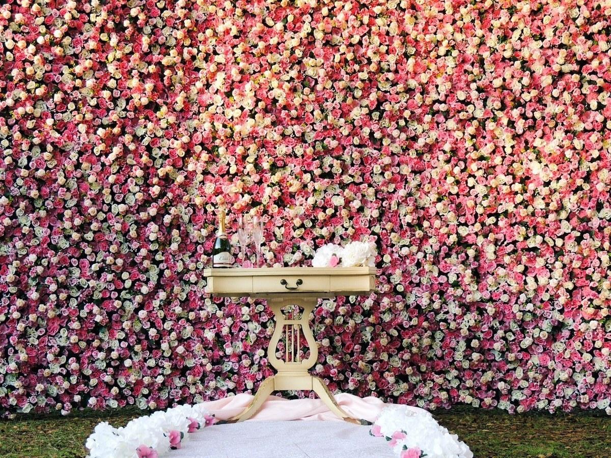 Flower Wall Rental Wedding Flowers California