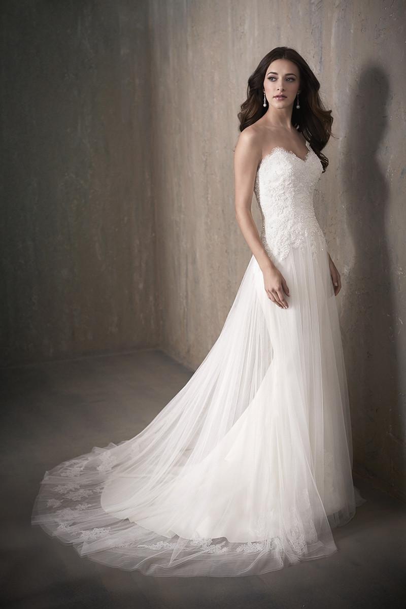 Ella A Line Wedding Dress By Adrianna Papell Platinum