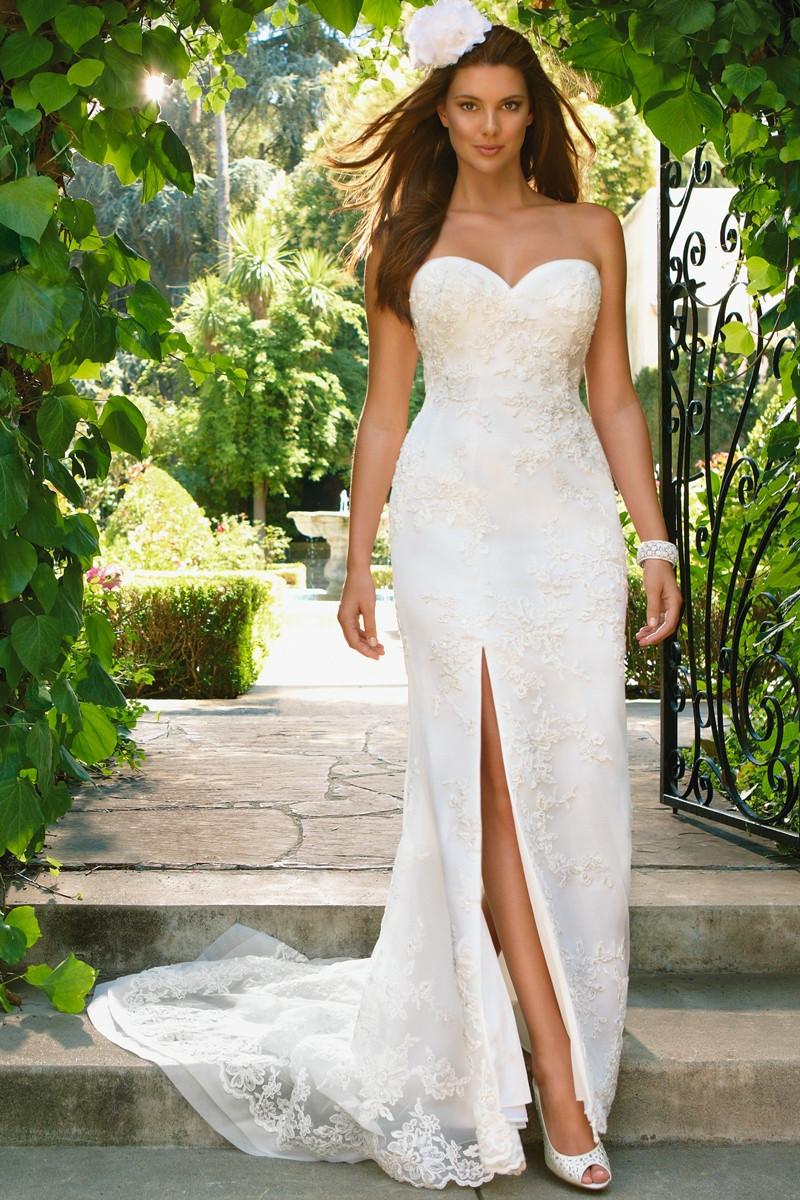 2022 Flared Cut Fit N Flare Wedding Dress By Casablanca