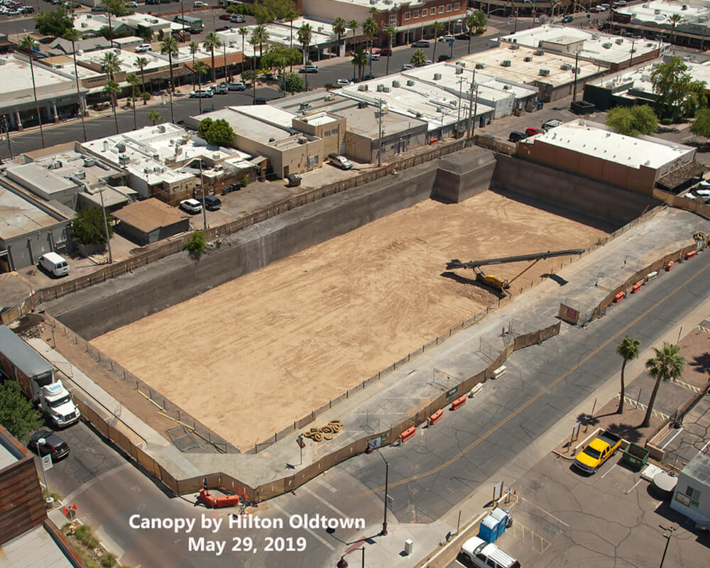 Bird's Eye View of Canopy by Hilton Project Site