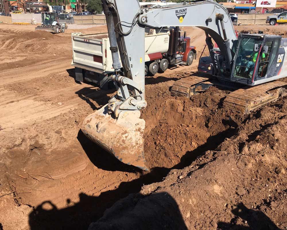 Arizona State University Job Site excavation