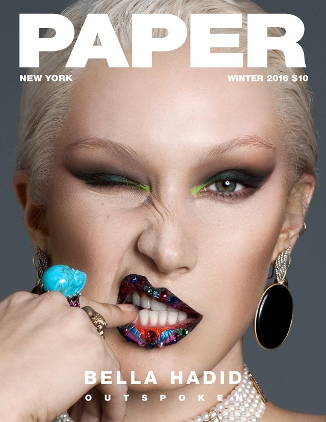 Fucci styled Bella Hadid for the cover of Paper magazine.
