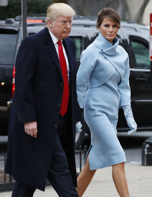 Who Melania Trump Is Wearing At The Inauguration Exclusive Photos Wwd
