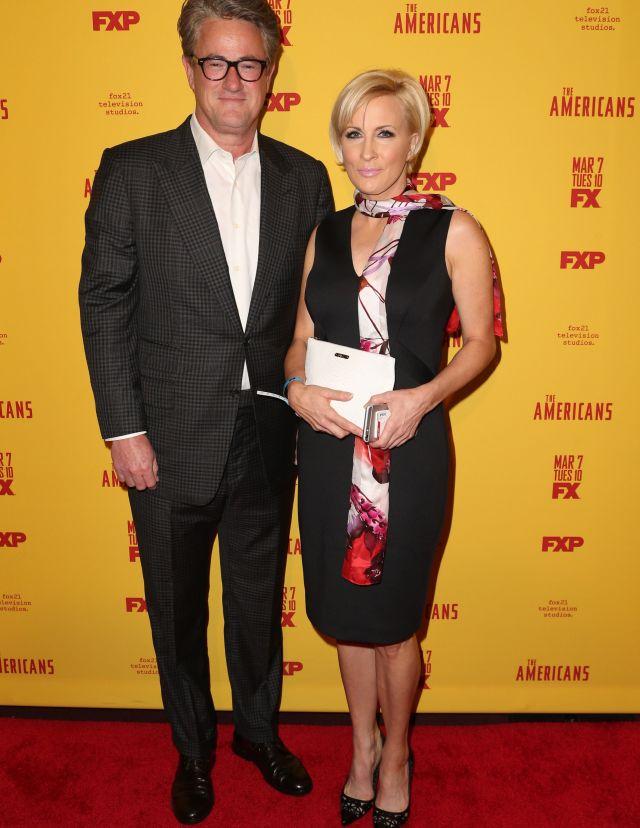 Joe Scarborough and Mika Brzezinski'The Americans: Season 5', TV series premiere, New York, USA - 25 Feb 2017