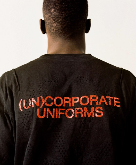 A look from the corporate brand Slam Jam (Un) Uniforms.