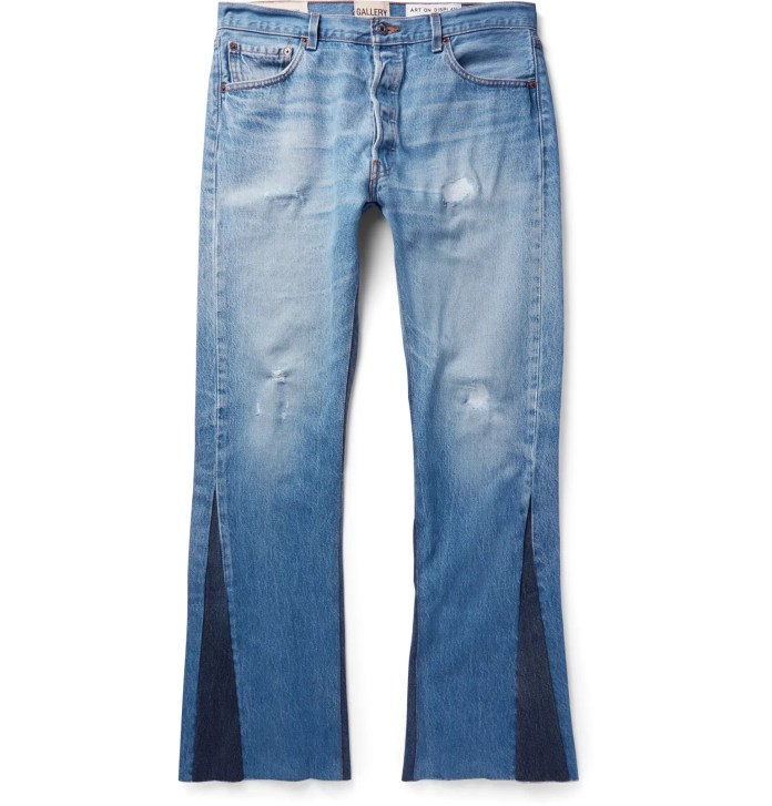 Slim-Fit Two-Tone Distressed Denim Jeans from Gallery Dept. Jeans