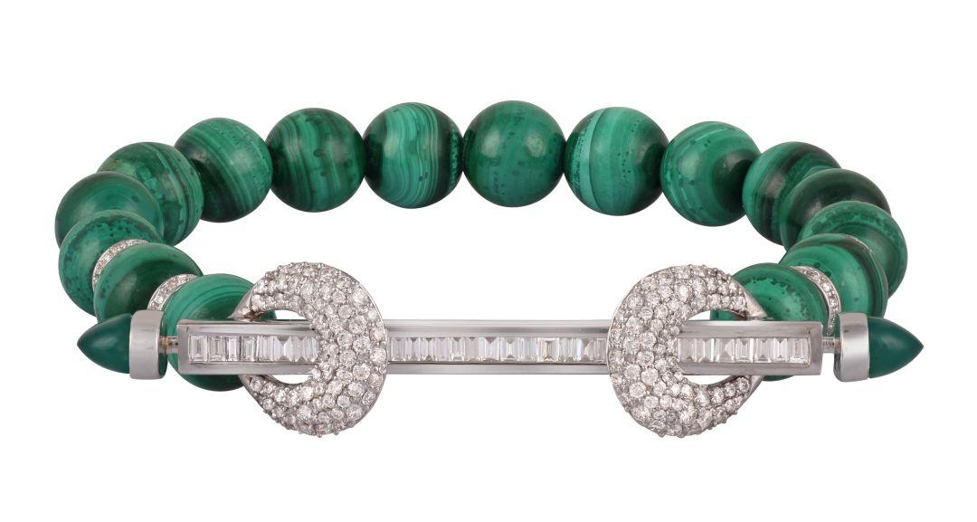 ANANYA Malachite Chakra Bracelet Green Onyx