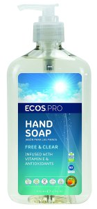 ECOS PRO Free and Clear Hand Soap, fragrance free hand soap, unscented