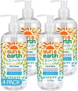 Sun & Earth Hand Soap, unscented, fragrance free hand soap