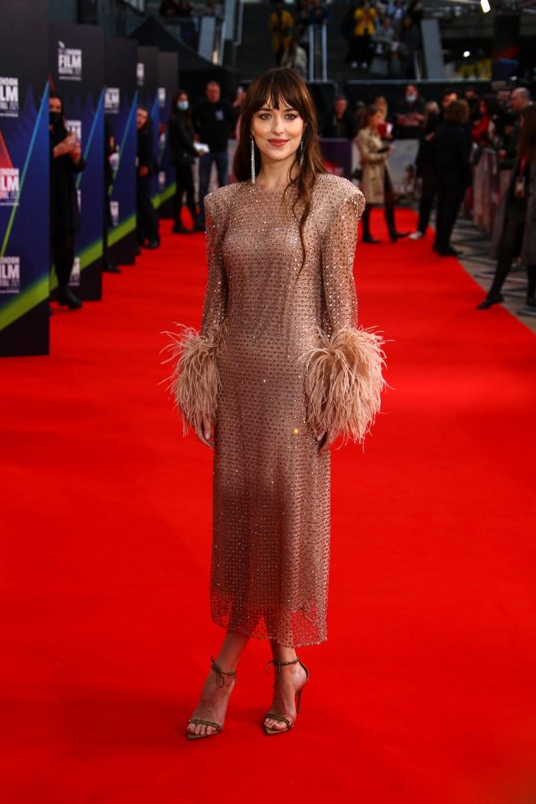 Dakota Johnson London Film Festival Gucci Dress: Details, Photos – WWD