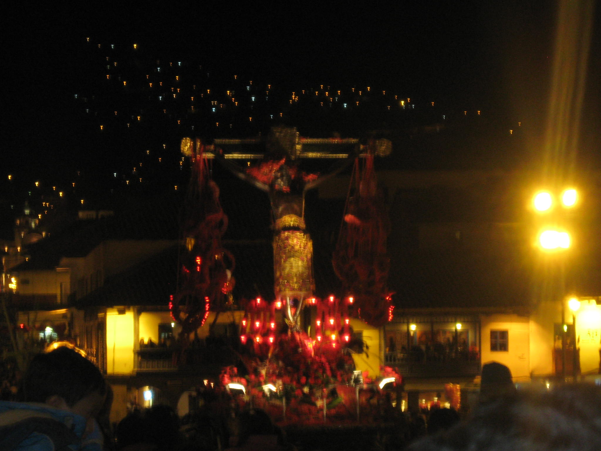 Annual procession of Señor de los Temblores