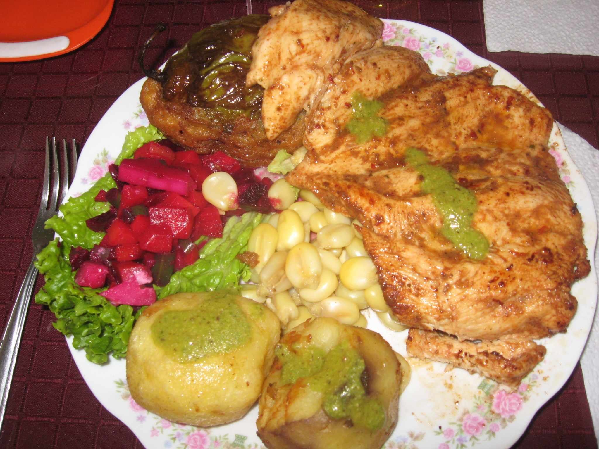 Typical Andean food