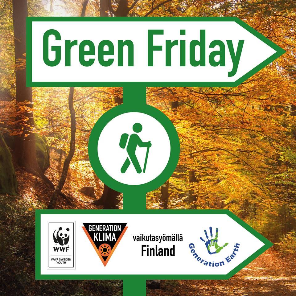 Vietä Green Fridayta Black Fridayn sijaan!