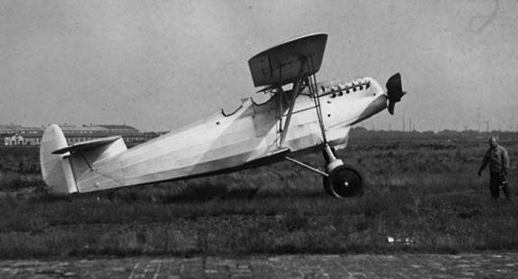 Самолет-разведчик «Альбатрос 84» на испытаниях.