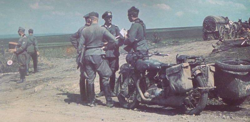 Немецкая армия во время наступления на Сталинград. Лето 1942 г.