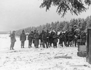 99th Division mass in snow