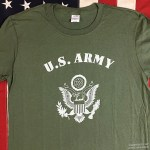 US army t shirt od green
