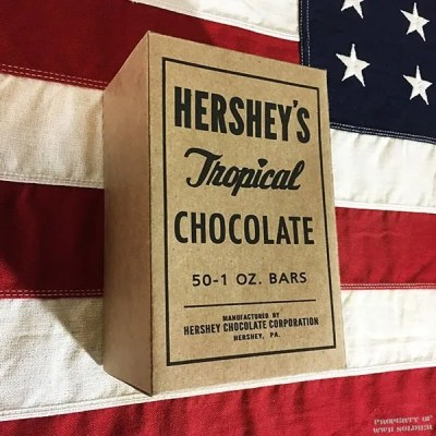WWII Hershey Tropical Chocolate Box Reproduction, WW2 Pacific Theater