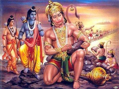 Rawana Lakshmana and Hanuman