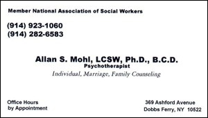 Mohl,Allan - Business Card