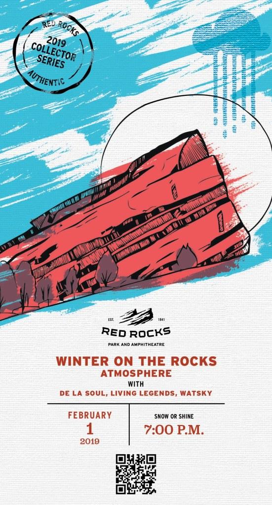 Red Rocks Ampitheatre Boulder CO Souvenir Ticket