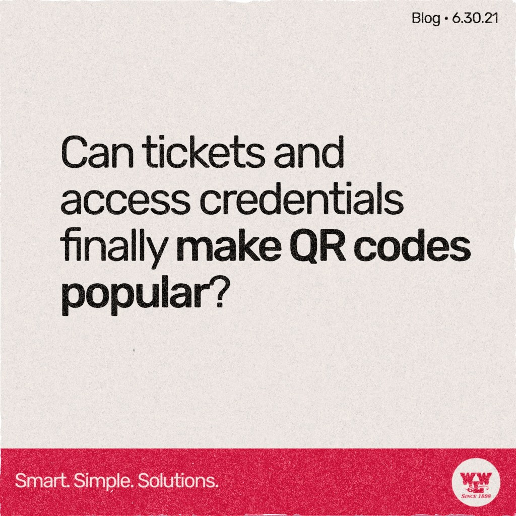 Can tickets and access credentials finally make QR codes popular? View our blog to find out