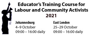 Read more about the article Educator's  training course for labour and community activists