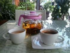 Espresso served with tea
