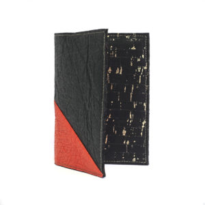 Delia Piñatex Passport Cover Black Paprika