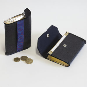 Vegan Black and Gold Piñatex® Phulan Wallet
