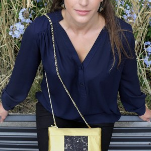 Cassie Vegan Handbag in Piñatex Gold and Cork