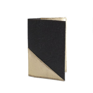 Delia Piñatex Passport Cover Gold