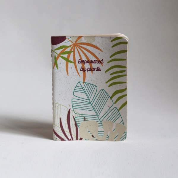 Recycled small banana leaf notebooks tropical