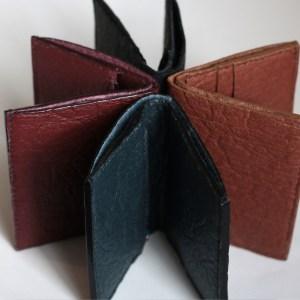 Porte-feuilles Piñatex mis en scène vue roue