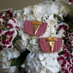 Daisy Piñatex Earrings Pink Gold for all the committed women