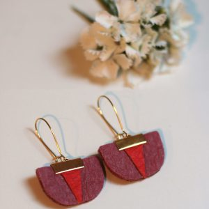 Daisy Piñatex earrings pink red for all the committed women