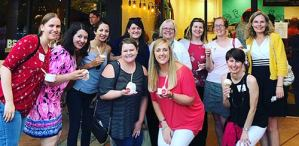 Women with Purpose enjoying ice cream