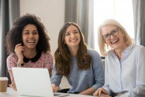3 women of different ethnicities