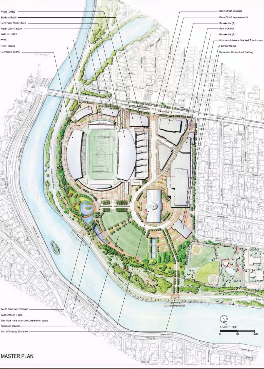 The proposed site plan for Lansdowne Live