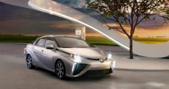 There are three hydrogen-fuelled Toyota Mirai cars in Australia.