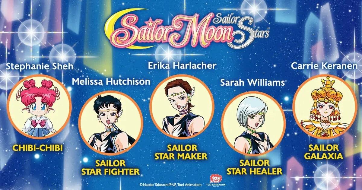 Sailor Moon Sailor Stars Dub Cast Visual
