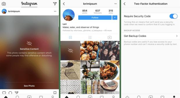 В Instagram запустили функцию защищающую от просмотра потенциально неприемлемых материалов