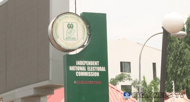 A section of the Independent National Electoral Commission (INEC) headquarters in Abuja was gutted by fire on April 17, 2020.