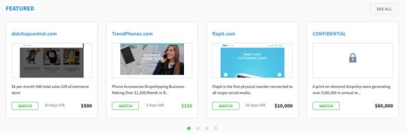 Flippa website marketplace.